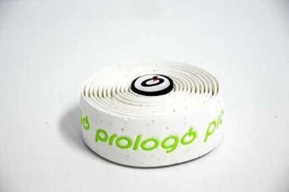 Imagem de Fita de guiador Prologo PlainTouch branco c/ logo verde