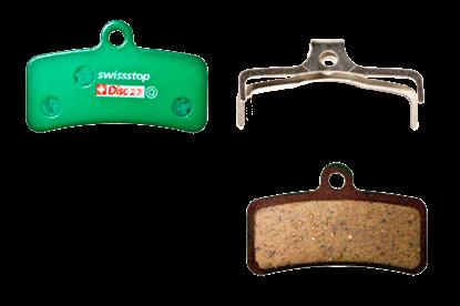 Imagem de Pastilhas Disc Swisstop Shimano SAINT BR-M820 / BR-M810 / ZEE BR-M640 / XT BR-M8020 / TRP Quadiem / Quadiem SL / Slate T4 - 27