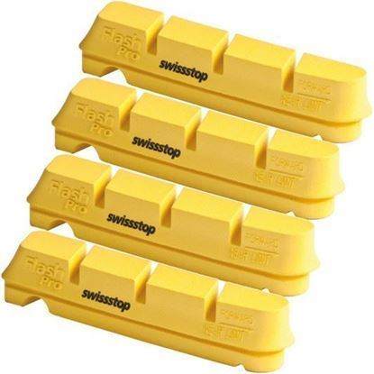 Imagem de Calços Swisstop Flash Shimano/Sram (4 pcs) Yellow King