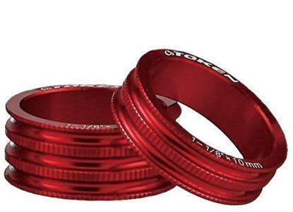 """Imagem de Anilha Token alu. 10mm CNC 1""""1/8 vermelha (unidade)"""