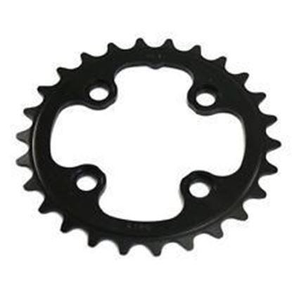 Imagem de Roda pedaleira FSA MTB preta Alu WC074 - 64x26T 2x11