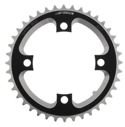 Imagem de Roda pedaleira FSA DH preto alumínio CNC 104x40T