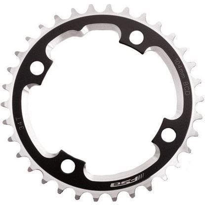 Imagem de Roda pedaleira FSA DH preto, alumínio CNC 104x34T(3mm)