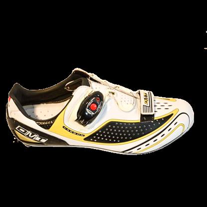 Imagem de Sapato FUSION branco/preto/amarelo - sola carbono