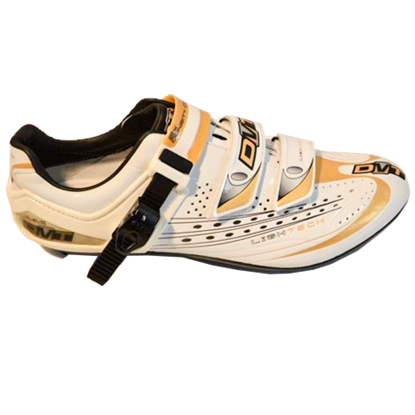 Imagem de Sapato FLASH branco/dourado - sola carbono