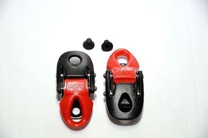 Imagem de Fechos milimétricos preto/vermelho (par)