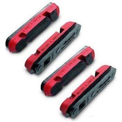 Imagem de Calços de travão vermelhos p/aros carbono 4pcs