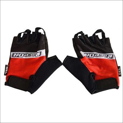 Imagem de Luvas Verão RaceOn dedos cortados preta/vermelha