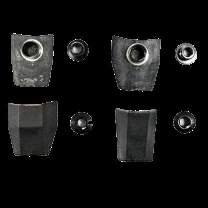 Imagem de Kit parafusos + tampas (4+4) rodas ped. Shim 11v