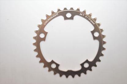 Imagem de Roda pedaleira Stronglight Road 110x34T Zicral 9/10v bronze