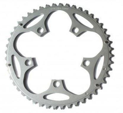 Imagem de Roda pedaleira Stronglight Road 110x52T Dural 9/10v prata