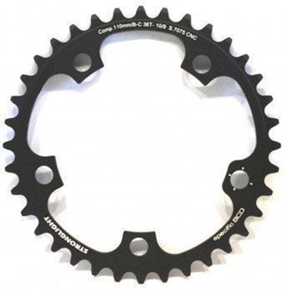 Imagem de Roda pedaleira Stronglight Campy Super Record 110x38T Zicral 11v
