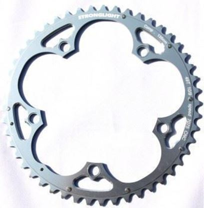 Imagem de Roda pedaleira Stronglight Campy ISO 135x49T Zicral 10v prata