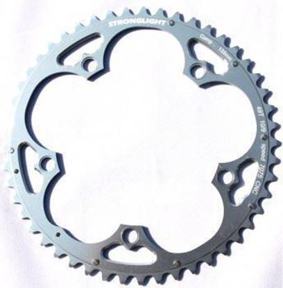 Imagem de Roda pedaleira Stronglight Campy ISO 135x46T Zicral 10v prata