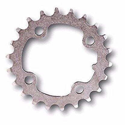 Imagem de Roda pedaleira MTB 64x22T Inox prata 3x9v