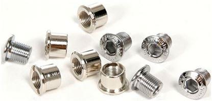 Imagem de Kit Parafusos roda pedaleira 5 furos dupla (10pcs) alumínio