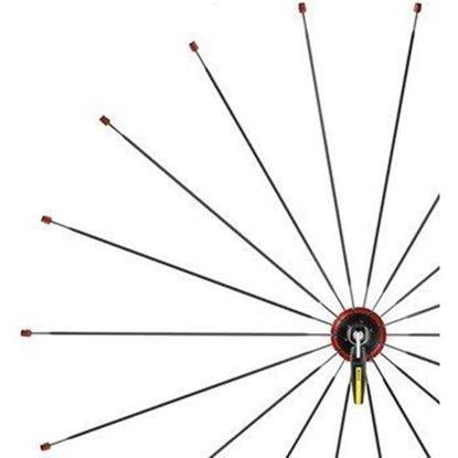 Imagem de Kit 9 raios Mavic Ksyrium Elite frente vermelho 283.5mm